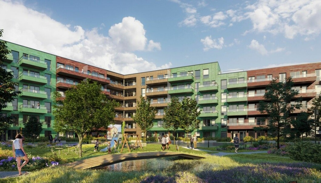 BYDEL: Lumanders Hage blir en del av den store nye bydelen som stadig vokser frem.