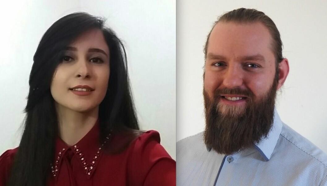 STERK BAKGRUNN: Maciej Glowacki kommer rett fra Salt, School of Applied Technology, som holder til i Stockholm. Sahar Pourghorban har tilbrakt de siste tre årene som utvikler hos Douran Group, et av Irans mest suksessfulle IT-selskaper.
