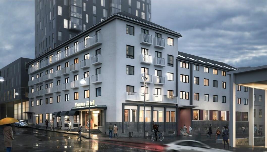 TRANSFORMASJON: Dette ikoniske hotellet skal bli leiligheter.