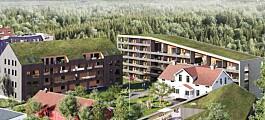Området var planlagt for kirkebygg. Nå vil OBOS bygge 71 boliger (+)