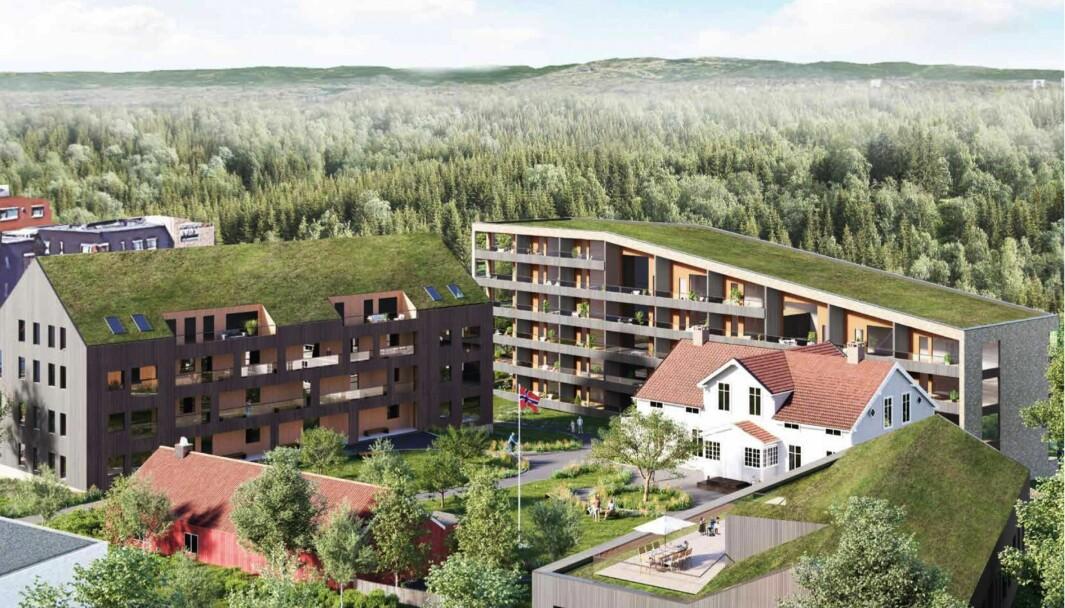 MØTEPLASS: Utbyggerne ønsker å videreføre og forsterke gården som samlingssted og møteplass for nærområdet.