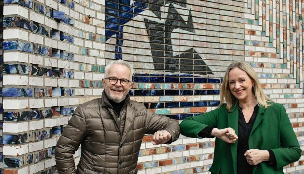 NYTT STORPROSJEKT: Aspelin Ramms Gunnar Bøyum kjøper seg inn i nytt storprosjekt i Oslo Spektrum. Norges Varemesses Gunn Helen Hagen er fornøyd med å få ha fått med eiendomsutvikleren på laget.