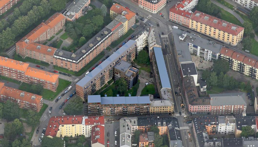 FORTETTING: Dette kvartalet på Grünerløkka blir utvidet og rustet opp.