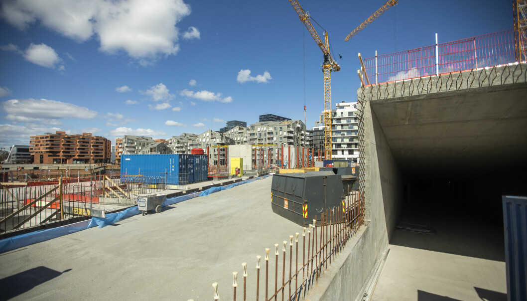 FERDIG: Å bygge en kjeller i indre havn er både krevende og kostbart.