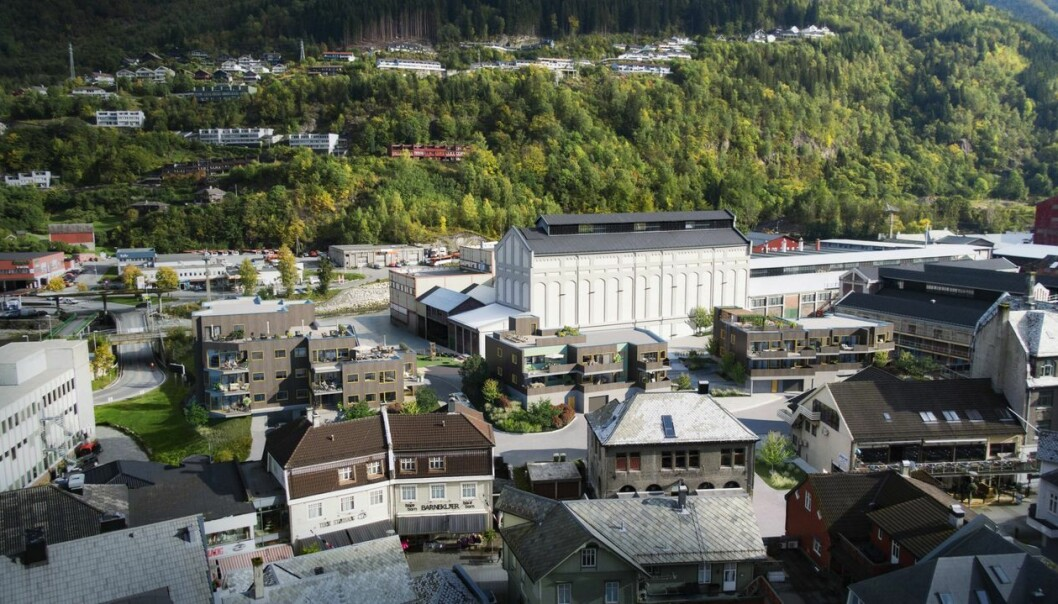 TRANSFORMASJON: Før et skittent og bråkete industrieventyr, nå en stadig voksende bydel.