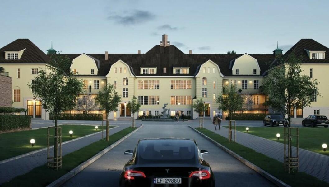 UNIKT: Prosjektet inneholder blant annet dette unike hovedhuset.