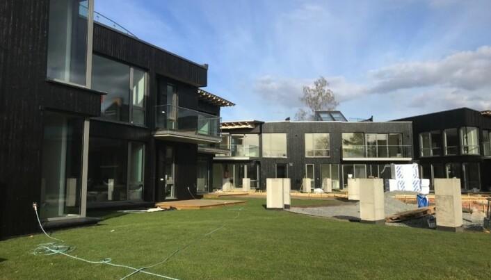 OPPFØRT: Nå har Nordic Group Holding oppført 3 bygg med totalt 15 leiligheter i Tuengen allé 1.