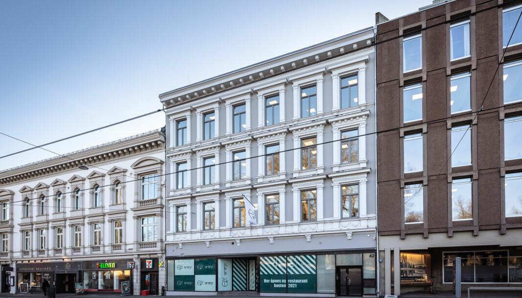 SENTRALT: Oslo-eiendommen skal få restaurant i første etasje fra høsten 2021.