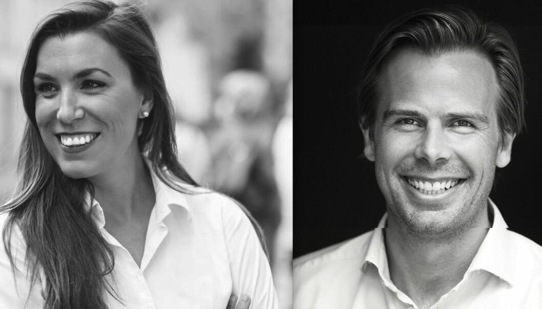 TIL MALLING: Kristine Holen og Anders Ombudstvedt.