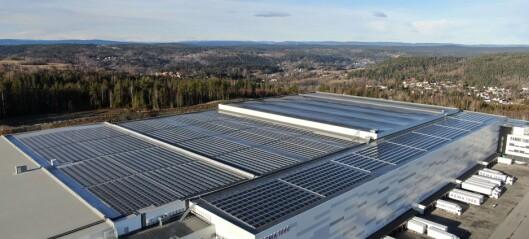 Norges største solcelleinvestering setter standarden for fremtidens anlegg