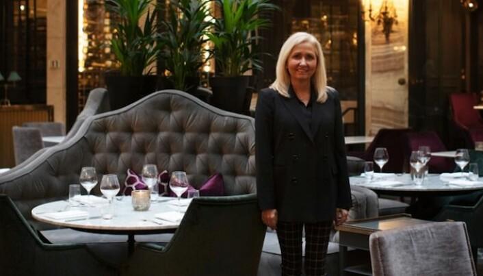 Hotell-direktør Toril Flåskjer forteller at normalt er ca. 70 prosent av vår- og sommergjestene på Grand Hotel utenlandske turister.