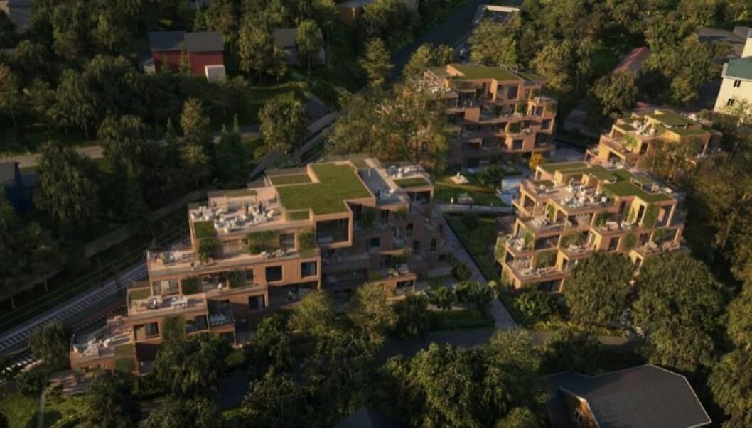STØTTER TETTHET: Rådet for byarkitektur støtter at tettheten overgår småhusplanens bestemmelser.