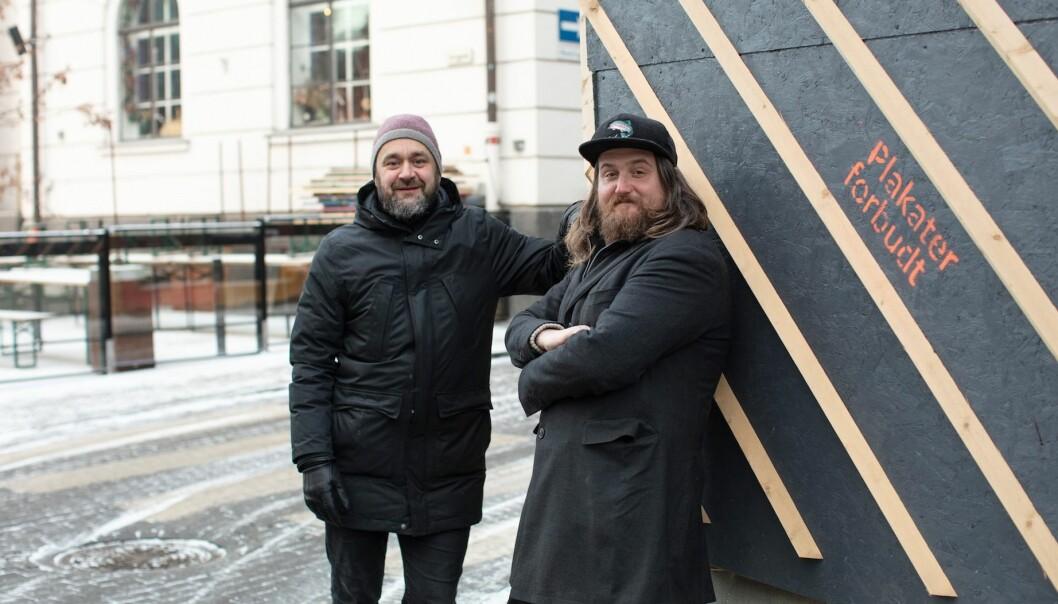 RYKKER INN: Runar Eggesvik og Arnt Andersen skal inn i kjelleren i Torggata 18 med Oslos største vinbar.