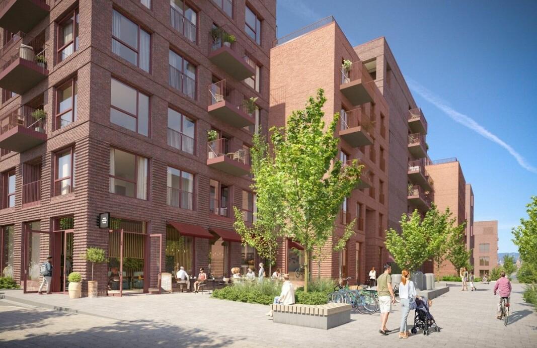 FORTETTING: Dette skal bli et prosjekt med flere hundre leiligheter.