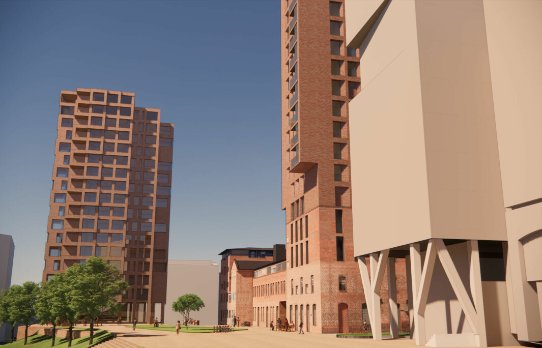 BEVARES: Planforslaget sikrer at eksisterende bebyggelse på Fyrstikktorget bevares, og dagens bruk kan videreføres.