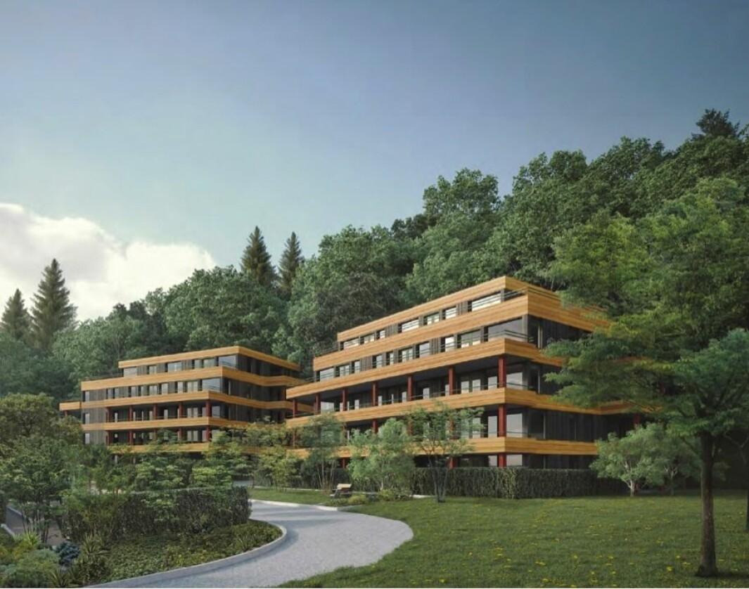 40 BOLIGER: Prosjektet viser 40 boliger med 2-5 roms leiligheter.