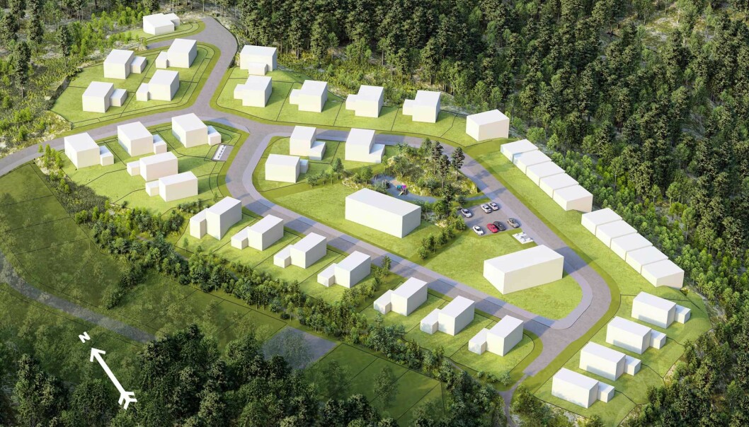 DELFELT: Dette er bare litt av det store boligområdet som nå skal utvikles.