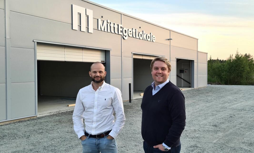 SUKSESS: Prosjektleder Robin Svevad og daglig leder Jørgen Ittelin-Brynildsen driver stort i lagerbransjen.