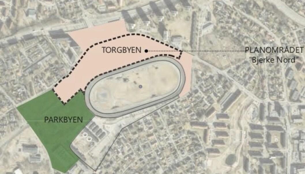 RACINGBANE: Intensjonen i planprogrammet er at området skal transformeres til en ren racingbane for travsporten og med en hovedvekt av boliger i den nye bygningsmassen.