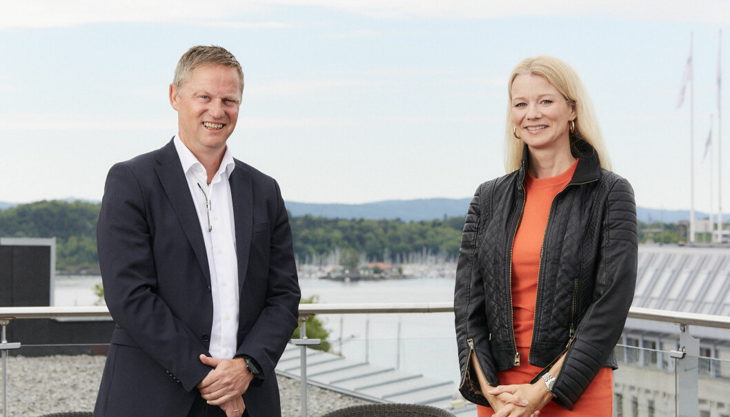 SATSER: Akershus Eiendom-sjef Petter Nylend er fornøyd med å ha hentet Kari Due-Andresen fra Handelsbanken.