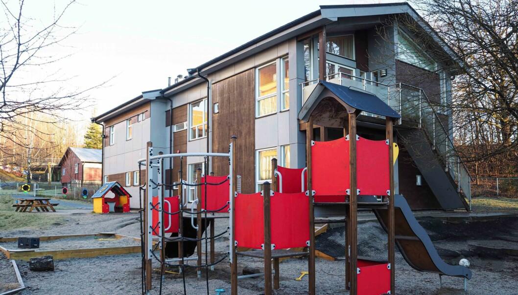 SOLGT: Blant eiendommene som inngår i porteføljen, er eiendommen til Lunden Barnehage i Oslo.