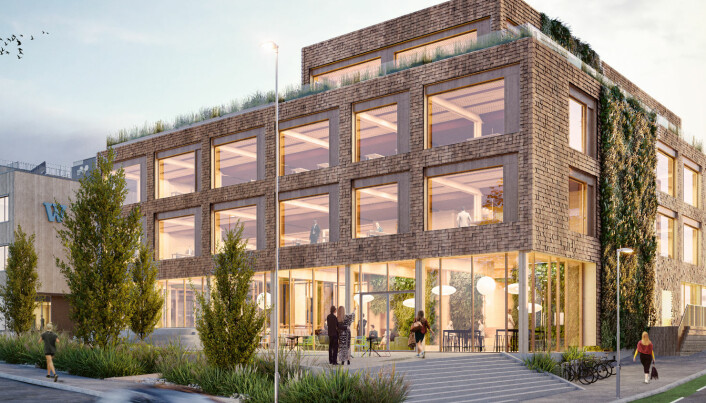 Det nest siste bygget på HasleLinje blir i tre