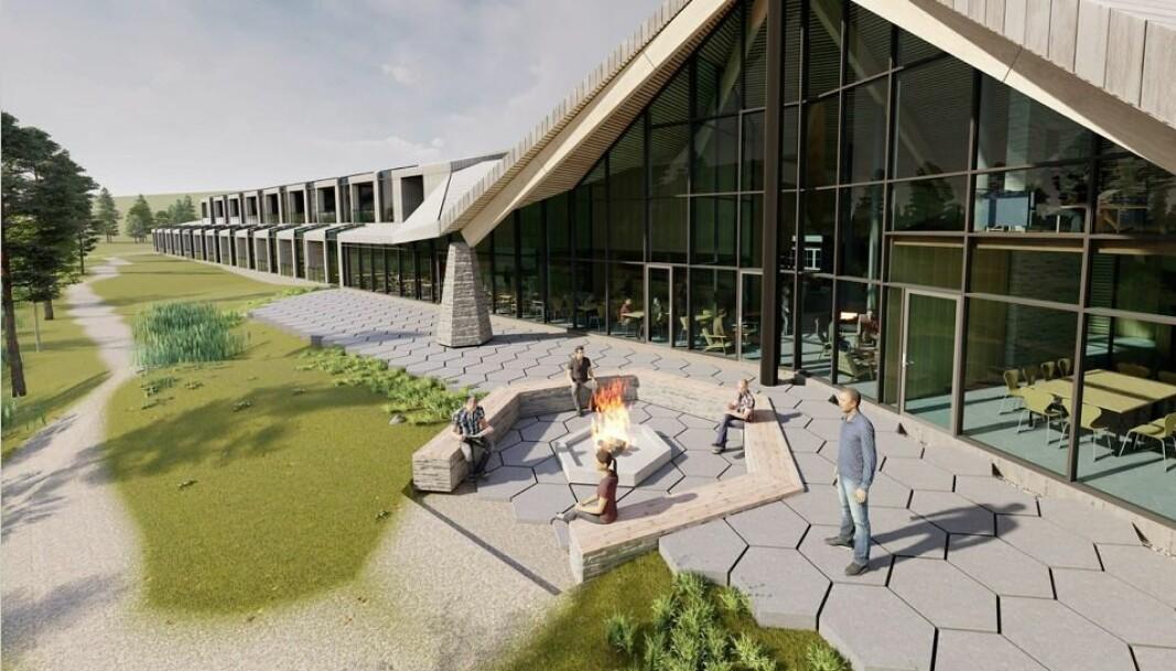 UTVIDER: Med den nye villmarkslodgen får turistanlegget 24 rom på elvebredden.