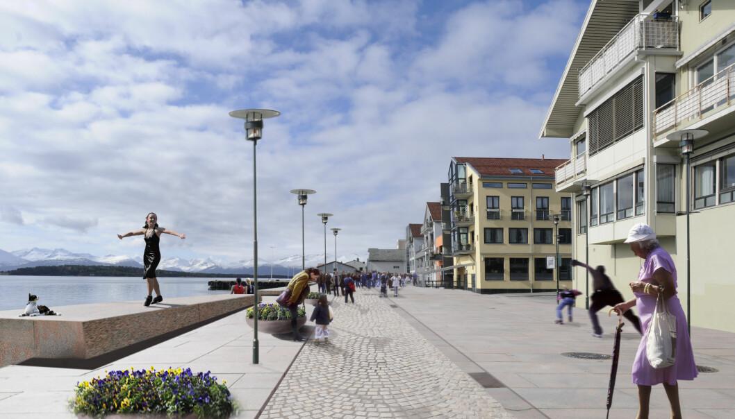 SNUOPERASJON: Prosjektet Sjøfronten er i ferd med å snu byen slik at den vender mot fjorden.