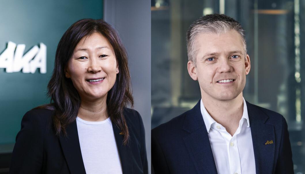 FORNØYD: Adm. direktør Jane K. Gravbråten og finansdirektør Thomas Simensen er fornøyd med utviklingen i AKA.