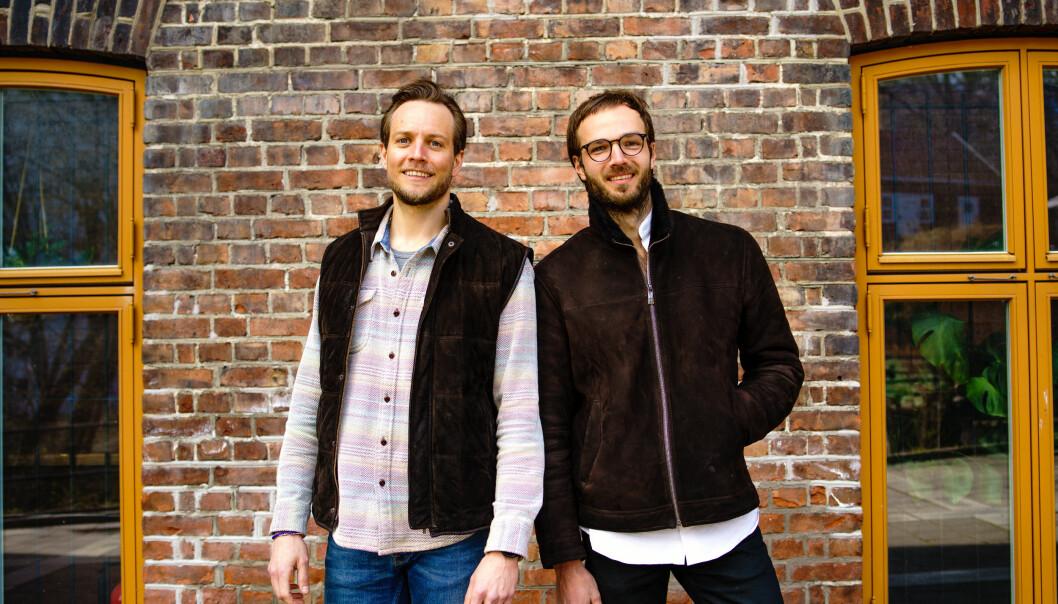 MED-GRÜNDERE: Aksel Gresvig og Herman Wenstad, begge med-gründere og Chief Innovation Officer i Plyo.