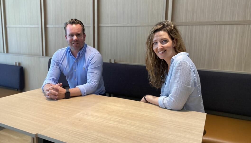 EIENDOMSFORVALTNING: LAFT er en leverandør av software for eiendomsforvaltning i Norge. Fra venstre: Stian Elgaaen, CCO i LAFT og Sara Kjelstrup, CEO i LAFT.