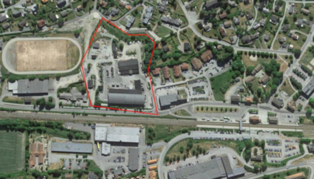 RETT VED TOGET: Fredensborg Boligs nye kjøp i Vestby (markert med rødt).