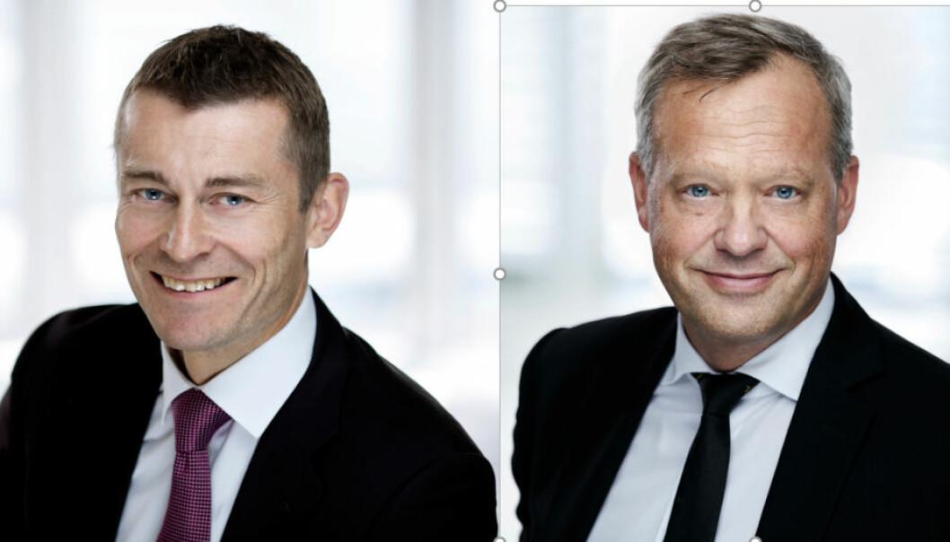 MANGE TRANSAKSJONER: - Dette har nok samlet vært vårt mest aktive første halvår noen gang, sier f.v. Tom Rune Lian og Stig L. Bech i advokatfirmaet Wiersholm.