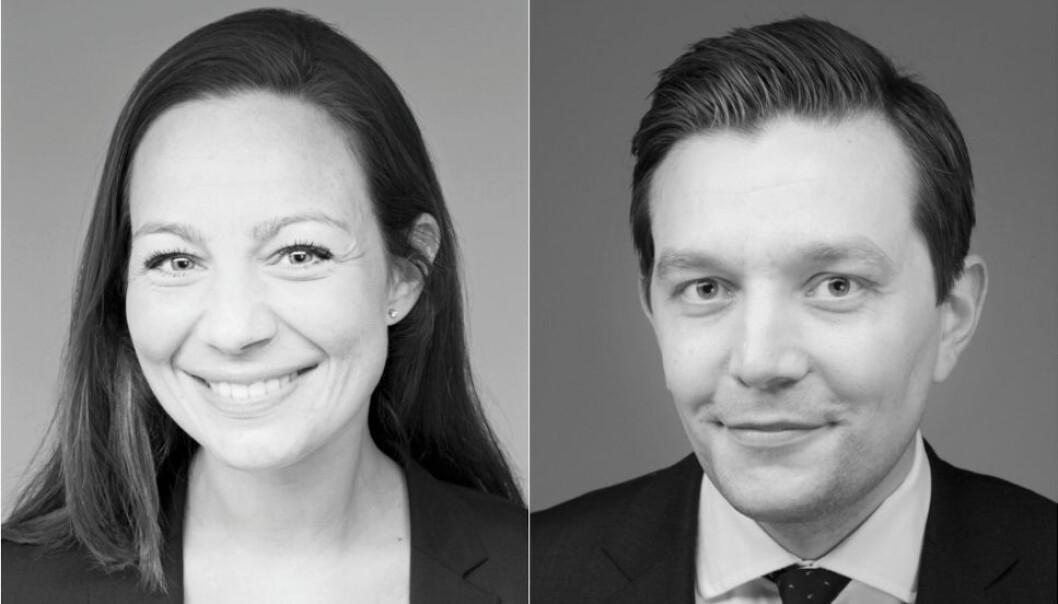 AKTIVT FØRSTE HALVÅR: - Vi deler den gjengse oppfatningen i markedet om at det særlig var logistikk og kombibygg som var attraktive i tiden etter koronautbruddet, men at handel og hotell nå er på vei tilbake, sier Wikborg Rein-partnerne Lars Ulleberg Jensen og Ingrid Høstmælingen.