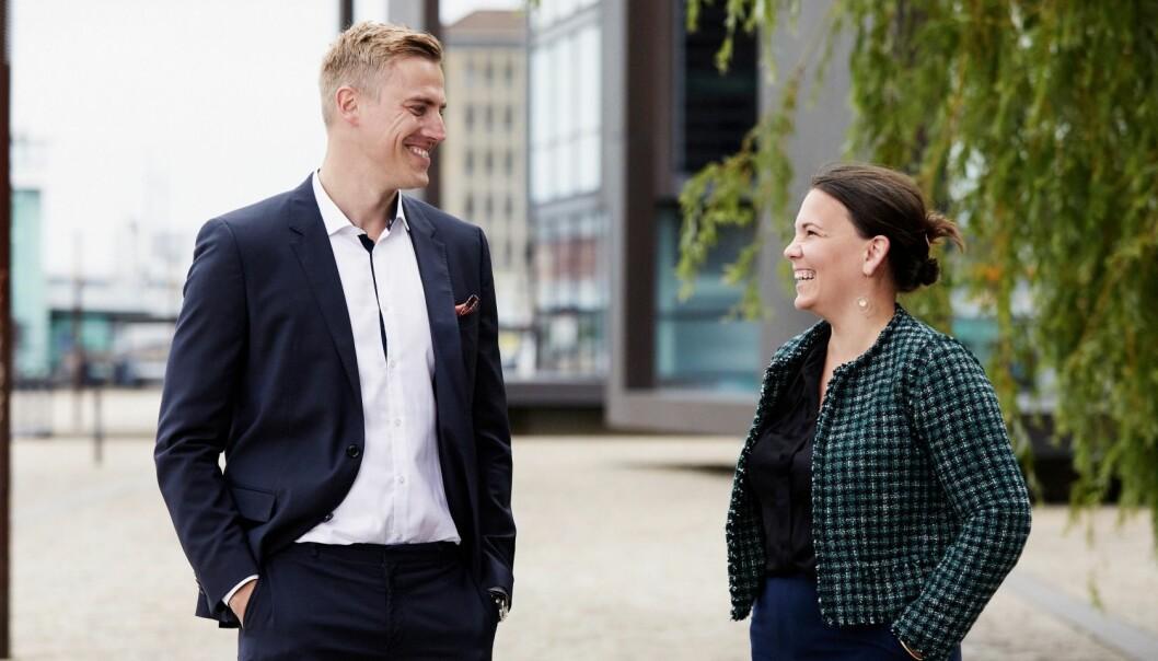 RAKETTVEKST: Kameos gründer Sebastian M. Harung og daglig leder Linn Hoel Ringvoll låner ut stadig mer penger til eiendomsselskaper gjennom crowdfundingplattformen.