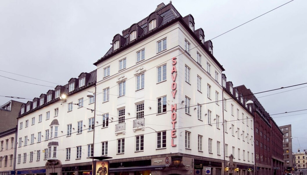 SENTRALT HOTELL: Hotel Savoy i Universitetsgata 11.