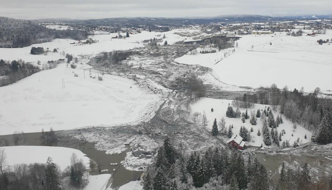 ENORMT: Raset i Ask er et av de aller største i Norge.