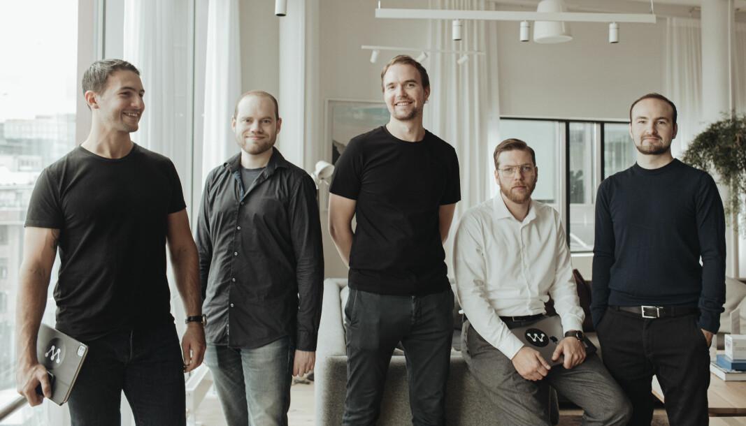 VOKSER: Amir Folkestad Habhab, Magnus Willadssen, Andreas Wiese Kolstad, Jon Amdahl Martinsen og Thomas Meyer.