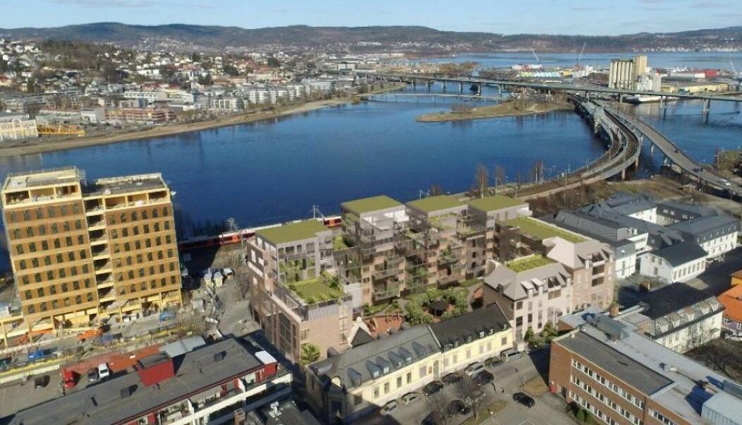 SENTRALT: Dette nye boligkvartalet kan stå ferdig om tre år.