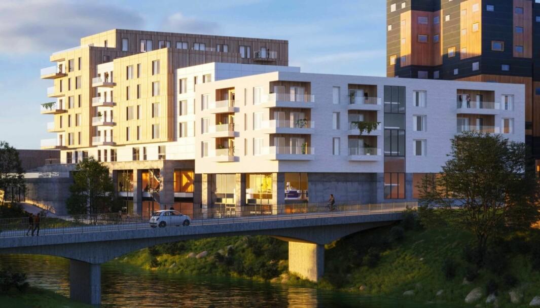 4-8 ETASJER: Forslaget legger opp til byggehøyder på 4, 6 og 8 etasjer.