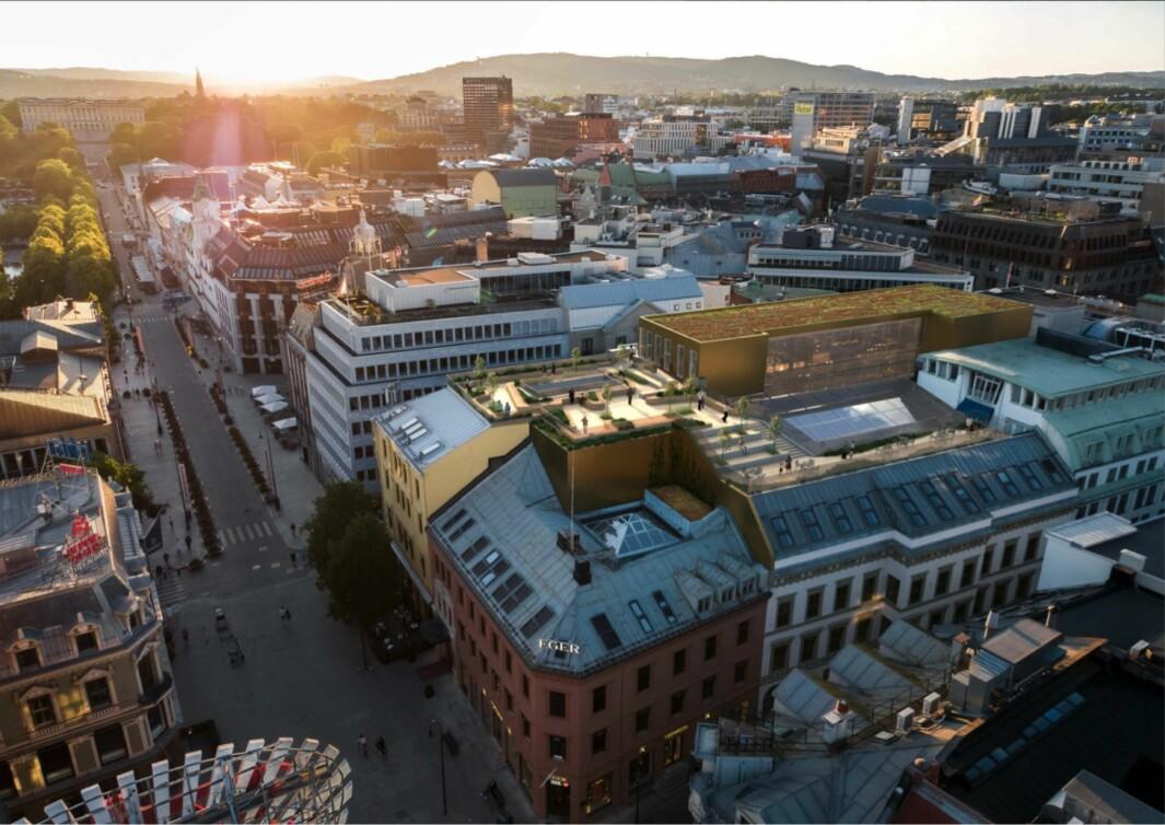 ATTRAKTIVE KONTORER: I de øverste etasjene i Eger ønsker Promenaden Management å tilby «noen av byens mest attraktive kontorer for de viktigste og mest krevende kontorkundene».