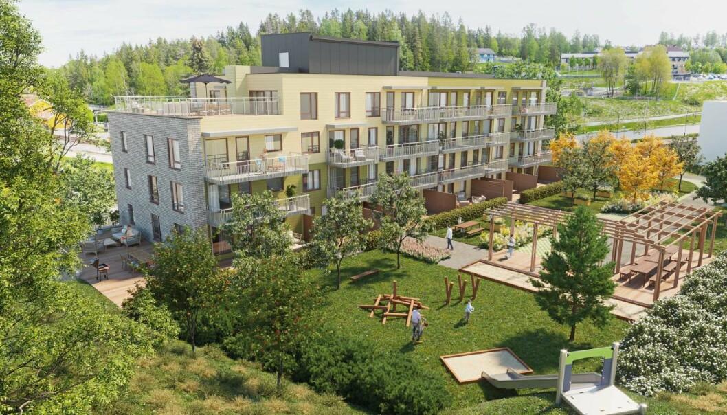 ENDRINGER: Korona har blant annet ført til at mange nordmenn ønsker å bo mer naturnært. Dette er JMs prosjekt Tunet på Langhus Gård.