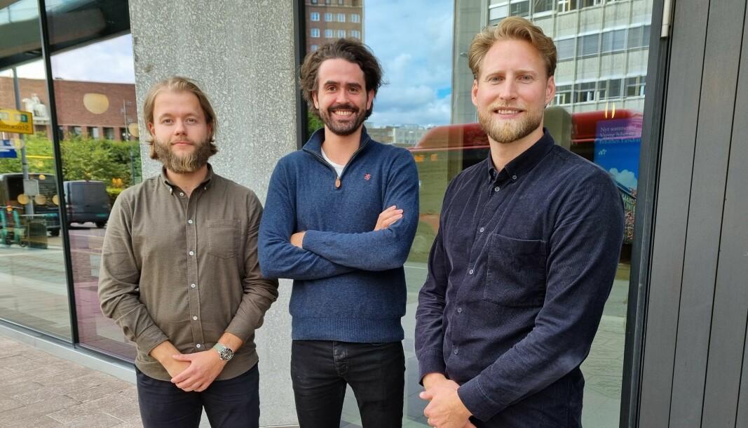 NYANSETTELSER: Andreas Vestavik , Frede Fardal og Simen Krogh i Newsec Maps.