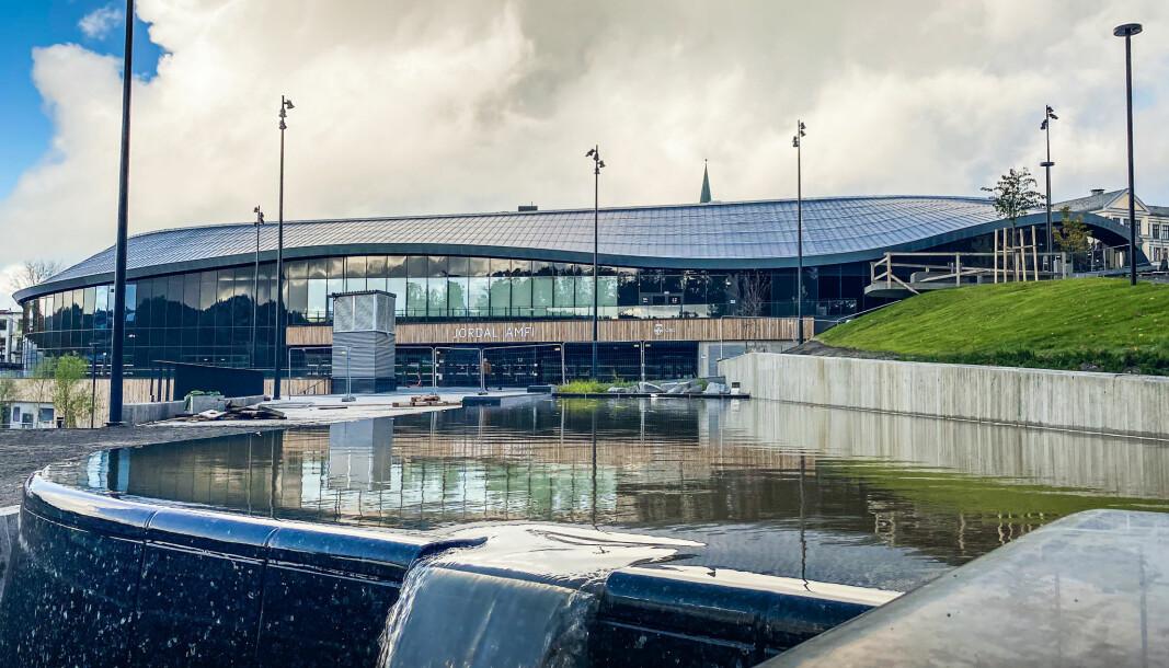 PRESTISJE: Det nye idrettsanlegget kan vinne internasjonalt arkitektgull.