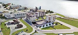 Gammel industritomt blir hett boligprosjekt i vannfronten
