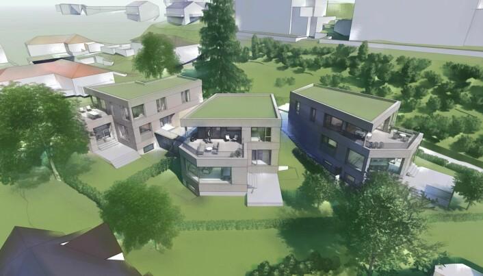 BYGGER ENEBOLIGER: Petter Neslein i Pecunia sier at prosjektet er helt i tråd med Småhusplanen, og de håper å være i gang med byggingen før nyttår.