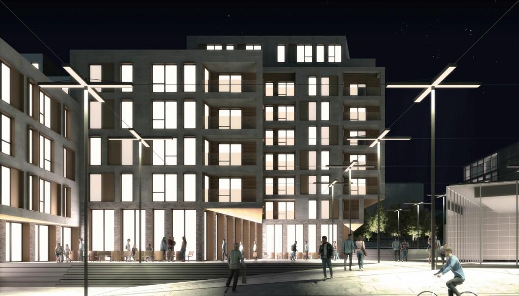 BYMESSIG TILKNYTNING: I det reviderte plangrepet er visjonen å utvikle et boligkvartal med god bymessig tilknytning.