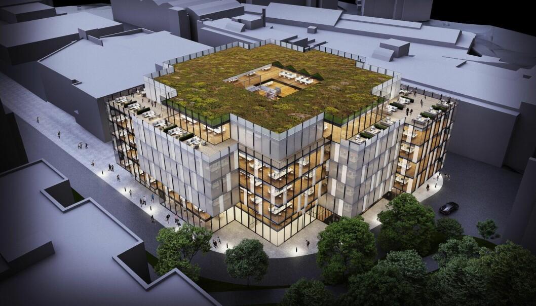 VINNERFORSLAG: Arcasa Arkitekter står blant annet bak vinnerforslaget for næringsprosjektet Gullhaug Torg i Nydalen.