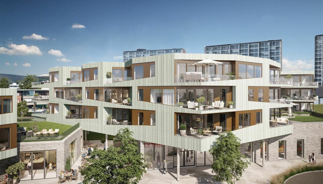 POPULÆRT: Dette boligprosjektet på Madla har fått en god start på salget.