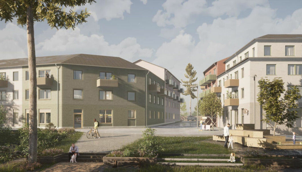 NORSK INTERESSE: Runar Vatne har kjøpt utleieboliger under bygging med hyresrätter. Boligene ligger i Bålsta, 40 minutter utenfor Stockholm sentrum.